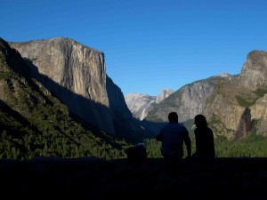 iconic overlook of Yosemite valley